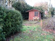 Erste Besichtigung des Grundstücks Die kleine Hütte [23.02.2008] Grundstück