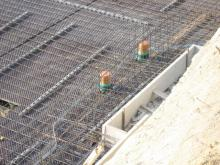 Stahlarmierung für ein solides Fundament Anschlüsse für die Abflüsse im Keller [29.05.2009] Keller