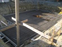 Kellerbodenplatte mit Stahlarmierung
