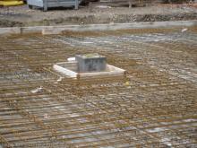 Kamin und Haustechnikschacht
