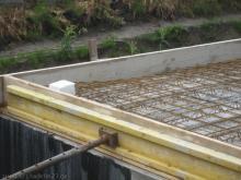 Aussparung in Betondecke für Abfluss