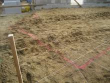 Grundriss der Garage Abgesteckter Grundriss der Garage [19.06.2009] Garage