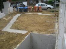Streifenfundament für die Garage  [20.06.2009] Garage