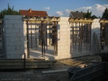 Vorbereitungen für die Erdgeschossdecke Blick auf das Wohnzimmer [26.06.2009] Erdgeschoss