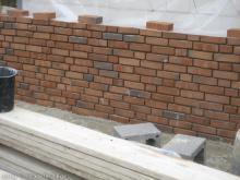 Probemauer mit dem Vormauerziegel  [30.06.2009] Verblender