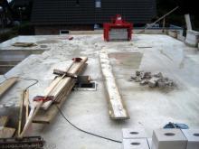 Der Erdgeschossrohbau ist fertig - die Betondecke wurde gegossen  [04.07.2009] Erdgeschoss