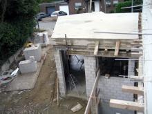 Die Betondecke wurde gegossen  [09.07.2009] Garage