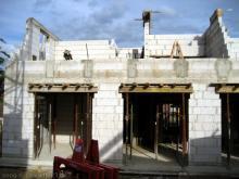 Die Mauern im Obergeschoss sind fast fertig Blick aus dem Garten [14.07.2009] Obergeschoss