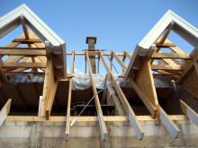 Der Schornstein wurde gemauert  [31.07.2009] Dachstuhl