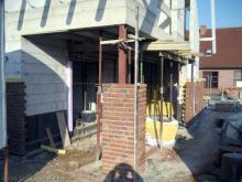 Vormauerziegel nun auch auf der Vorderseite  [04.08.2009] Verblender
