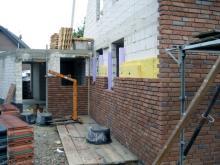 Wieder hat sich viel getan,... Arbeiten über den Kellerabgang [12.08.2009] Verblender