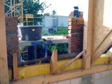 Der Nordgiebel ist fertig Die Gaubenfenster von innen [20.08.2009] Verblender