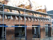 Die Fronten der hinteren Dachgauben sind nun auch verblendet  [21.08.2009] Verblender