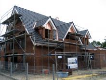 Unser Haus hat nun ein Dach  [10.09.2009] Dachstuhl