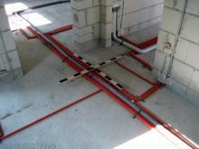 Alle Installationsleitungen fotografiert und dokumentiert  [28.09.2009] Installation