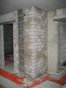 Die Maurer mussten nochmals ran  [05.10.2009] Installation