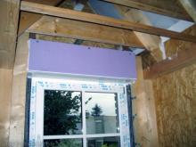 Alle Rollladenkästen sind eingebaut Rollladenkasten im Elternschlafzimmer [08.10.2009] Fenster