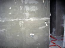 Das Badezimmer ist auch fertig verputzt Blick auf den Bereich des Waschbeckens [09.10.2009] Innenputz