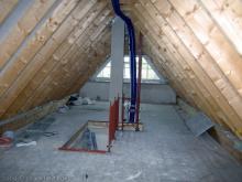 Die Treppe vom Dachboden aus gesehen  [13.10.2009] Treppen