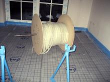 Die Heizschlangen der Fußbodenheizung wurden verlegt  [21.10.2009] Fußboden