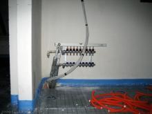 Regeler für die Fußbodenheizung im Obergeschoss