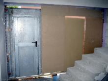 Die provisorische Bautür ist da  [25.10.2009] Türen