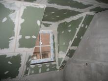 Trockenbauer beginnen mit ihrer Arbeit Dachgaube im Bad [17.11.2009] Trockenausbau