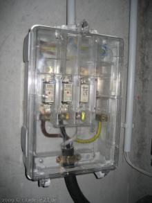 Die erste Lampe brennt Hauptsicherung [23.11.2009] Installation