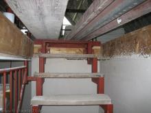 Spitzboden wird ausgebaut Mit Brettern versperrte Treppe [24.11.2009] Trockenausbau