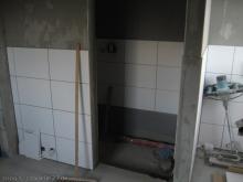 Erste Fliesen im Bad Die Duschecke [24.11.2009] Fliesen
