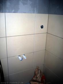 Fliesen im Gäste-WC  [08.12.2009] Fliesen
