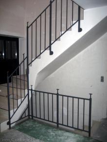 Die Teppengeländer wurden montiert  [21.01.2010] Treppen